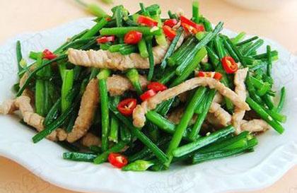 韭菜炒肉丝