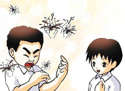 人们喜欢用驱蚊液防蚊